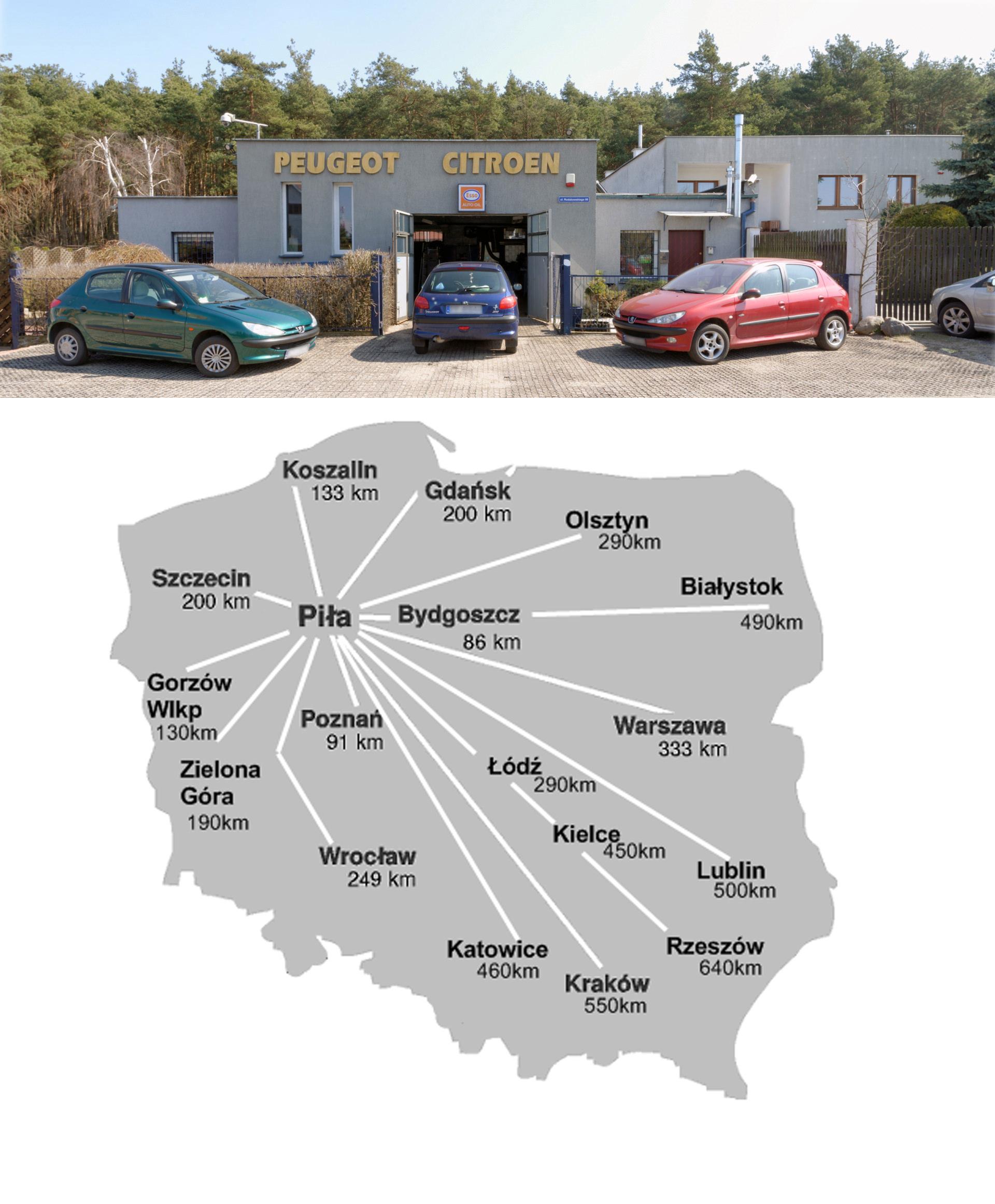 MAPA POLSKI dojazd